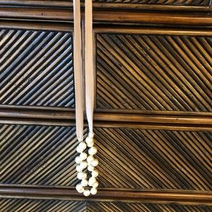 Jcrew pearl ribbon necklace.
